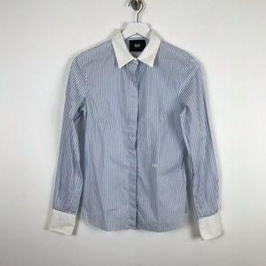 $795 Dolce & Gabbana Blue Long Sleeve Dress Shirt